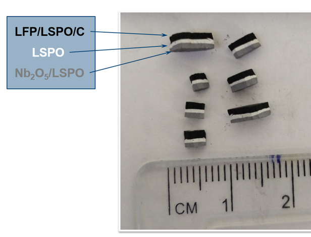 SPS-prepared solid-state batteries with LSPO electrolytes