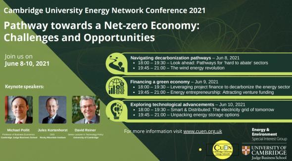 Cambridge University Energy Network conference 2021