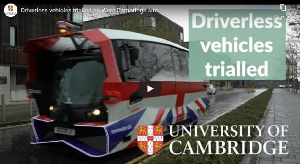 Driverless vehicles trialled on West Cambridge site
